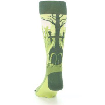 Image of Green Zombie Graveyard Men's Dress Socks (back-17)