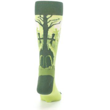 Image of Green Zombie Graveyard Men's Dress Socks (back-19)