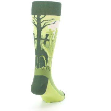 Image of Green Zombie Graveyard Men's Dress Socks (side-1-back-20)