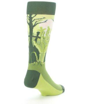 Image of Green Zombie Graveyard Men's Dress Socks (side-1-back-21)