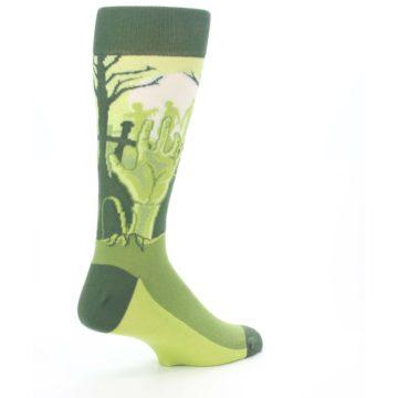 Image of Green Zombie Graveyard Men's Dress Socks (side-1-back-22)