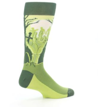Image of Green Zombie Graveyard Men's Dress Socks (side-1-23)
