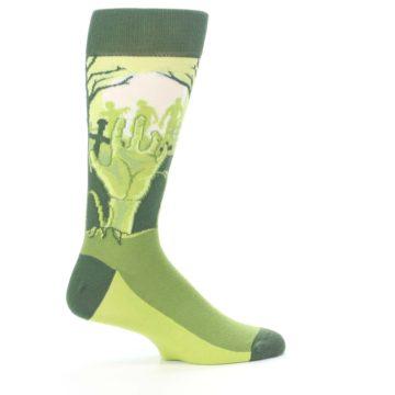 Image of Green Zombie Graveyard Men's Dress Socks (side-1-24)