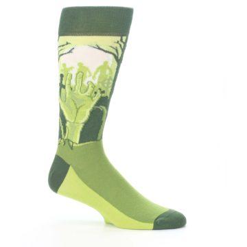 Image of Green Zombie Graveyard Men's Dress Socks (side-1-25)