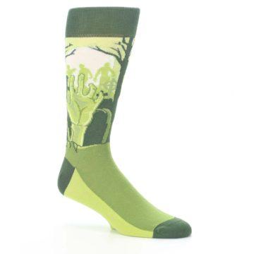 Image of Green Zombie Graveyard Men's Dress Socks (side-1-26)