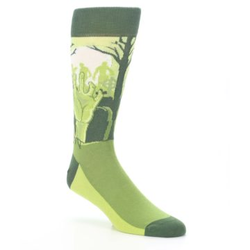 Image of Green Zombie Graveyard Men's Dress Socks (side-1-27)