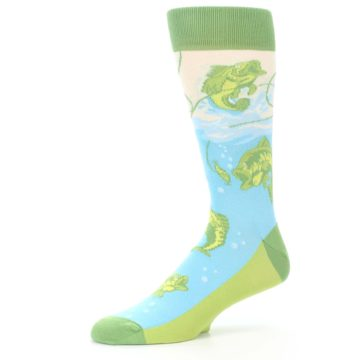 Image of Green Blue Fishing Lure Men's Dress Socks (side-2-10)