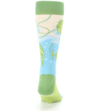 Image of Green Blue Fishing Lure Men's Dress Socks (back-19)