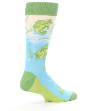 Image of Green Blue Fishing Lure Men's Dress Socks (side-1-23)