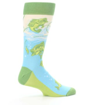 Image of Green Blue Fishing Lure Men's Dress Socks (side-1-24)