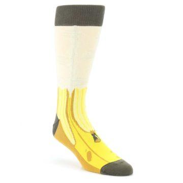 Yellow-Banana-Peeled-Mens-Dress-Socks-Statement-Sockwear