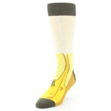 Image of Yellow Banana Peeled Men's Dress Socks (side-2-front-07)