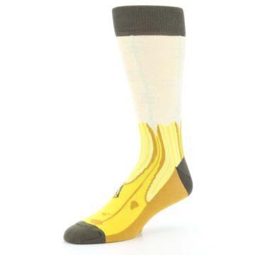 Image of Yellow Banana Peeled Men's Dress Socks (side-2-09)