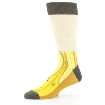 Image of Yellow Banana Peeled Men's Dress Socks (side-2-10)
