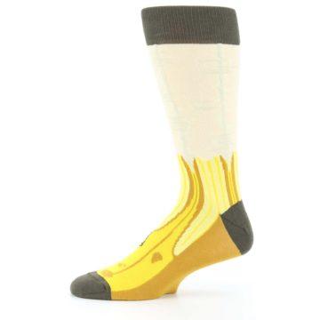Image of Yellow Banana Peeled Men's Dress Socks (side-2-11)
