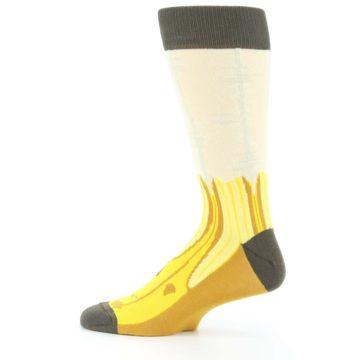 Image of Yellow Banana Peeled Men's Dress Socks (side-2-12)
