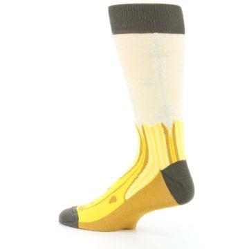 Image of Yellow Banana Peeled Men's Dress Socks (side-2-13)