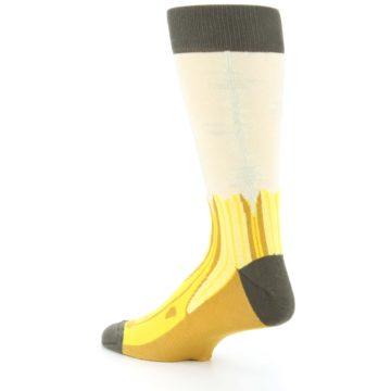 Image of Yellow Banana Peeled Men's Dress Socks (side-2-back-14)