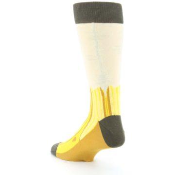 Image of Yellow Banana Peeled Men's Dress Socks (side-2-back-15)