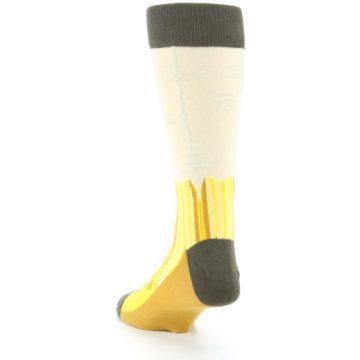 Image of Yellow Banana Peeled Men's Dress Socks (side-2-back-16)