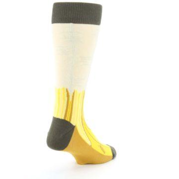 Image of Yellow Banana Peeled Men's Dress Socks (side-1-back-21)
