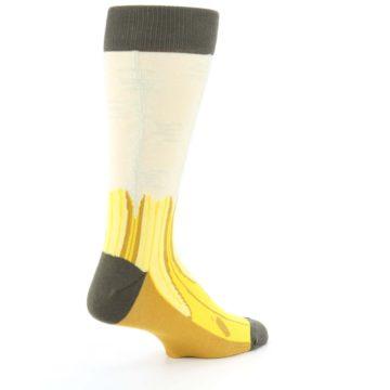 Image of Yellow Banana Peeled Men's Dress Socks (side-1-back-22)