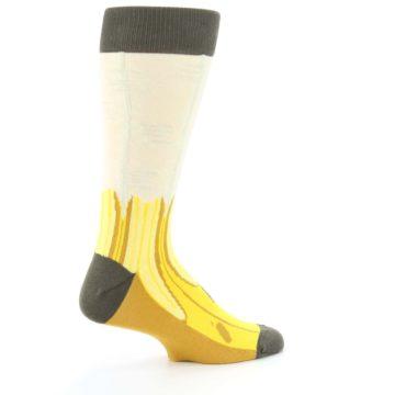 Image of Yellow Banana Peeled Men's Dress Socks (side-1-23)
