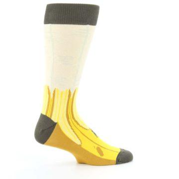 Image of Yellow Banana Peeled Men's Dress Socks (side-1-24)