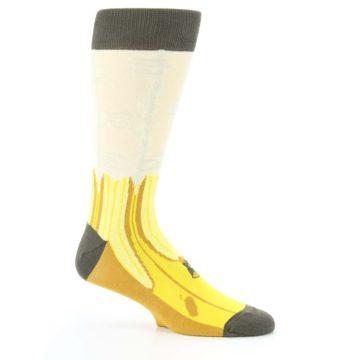 Image of Yellow Banana Peeled Men's Dress Socks (side-1-25)