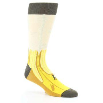Image of Yellow Banana Peeled Men's Dress Socks (side-1-26)