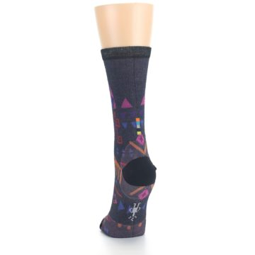 Image of Multicolor Totem Valley Print Wool Women's Casual Socks (back-17)