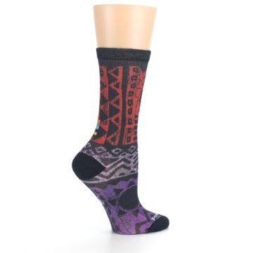 Image of Orange Purple Tribal Print Wool Women's Casual Socks (side-1-24)