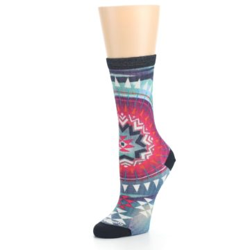 Image of Multicolor Morningside Print Wool Women's Casual Socks (side-2-09)