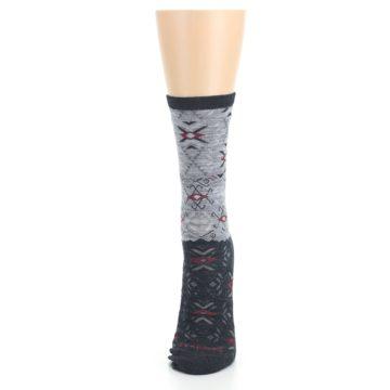 Image of Charcoal Heather Falling Arrow Wool Women's Casual Socks (side-2-front-06)