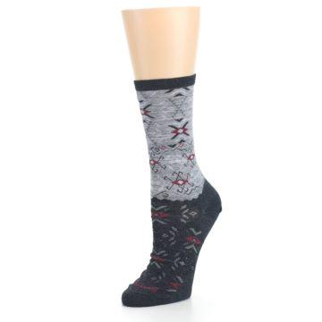 Image of Charcoal Heather Falling Arrow Wool Women's Casual Socks (side-2-09)