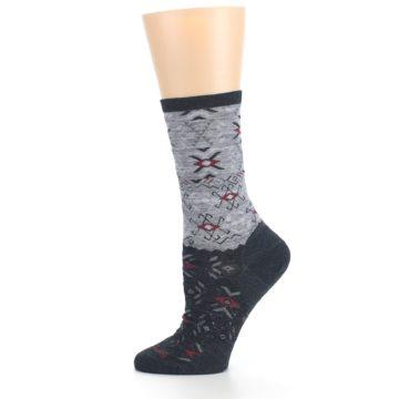 Image of Charcoal Heather Falling Arrow Wool Women's Casual Socks (side-2-12)