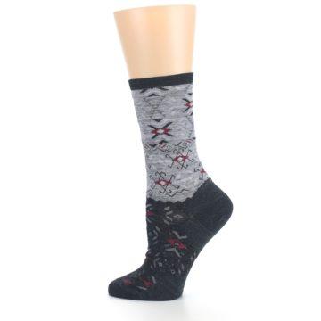 Image of Charcoal Heather Falling Arrow Wool Women's Casual Socks (side-2-13)