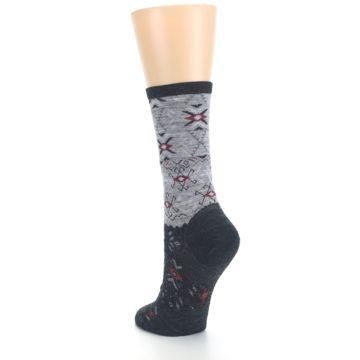 Image of Charcoal Heather Falling Arrow Wool Women's Casual Socks (side-2-back-16)