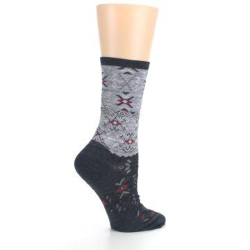 Image of Charcoal Heather Falling Arrow Wool Women's Casual Socks (side-1-24)
