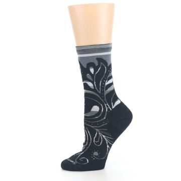 Image of Black Gray Sweet Harvest Wool Women's Casual Socks (side-2-11)