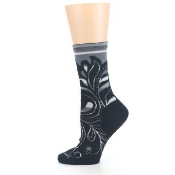 Image of Black Gray Sweet Harvest Wool Women's Casual Socks (side-2-12)