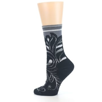 Image of Black Gray Sweet Harvest Wool Women's Casual Socks (side-2-13)