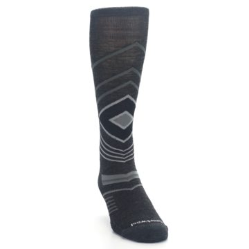 Image of Charcoal Heather High Crest Wool Men's Casual Socks (side-1-front-03)
