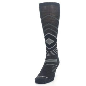 Image of Charcoal Heather High Crest Wool Men's Casual Socks (side-2-front-06)