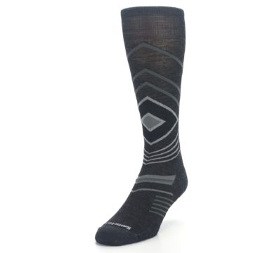 Image of Charcoal Heather High Crest Wool Men's Casual Socks (side-2-front-07)