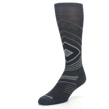 Image of Charcoal Heather High Crest Wool Men's Casual Socks (side-2-front-08)
