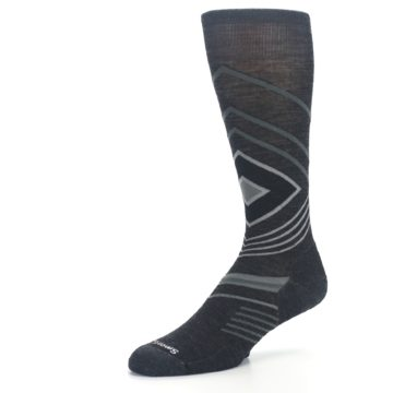 Image of Charcoal Heather High Crest Wool Men's Casual Socks (side-2-09)