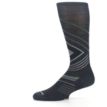 Image of Charcoal Heather High Crest Wool Men's Casual Socks (side-2-11)