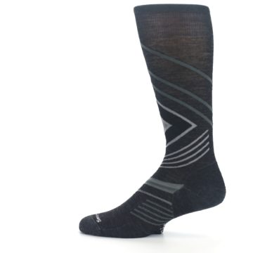 Image of Charcoal Heather High Crest Wool Men's Casual Socks (side-2-12)