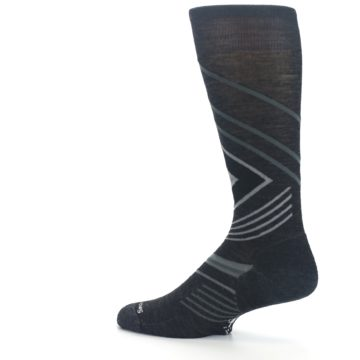 Image of Charcoal Heather High Crest Wool Men's Casual Socks (side-2-13)